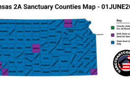 Kansas Second Amendment Sanctuary Updated Map June 01 2021