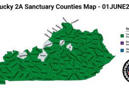 Kentucky Second Amendment Sanctuary Updated Map June 01 2021