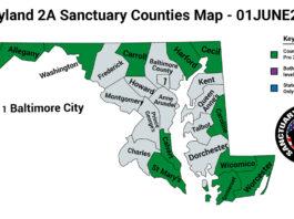 Maryland Second Amendment Sanctuary Updated Map June 01 2021