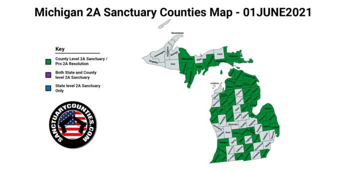 Michigan Second Amendment Sanctuary Updated Map June 01 2021