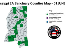 Mississippi Second Amendment Sanctuary Updated Map June 01 2021