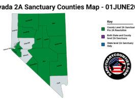 Nevada Second Amendment Sanctuary Updated Map June 01 2021