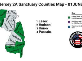 New Jersey Second Amendment Sanctuary Updated Map June 01 2021