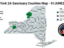New York Second Amendment Sanctuary Updated Map June 01 2021
