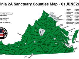 Virginia Second Amendment Sanctuary Updated Map June 01 2021