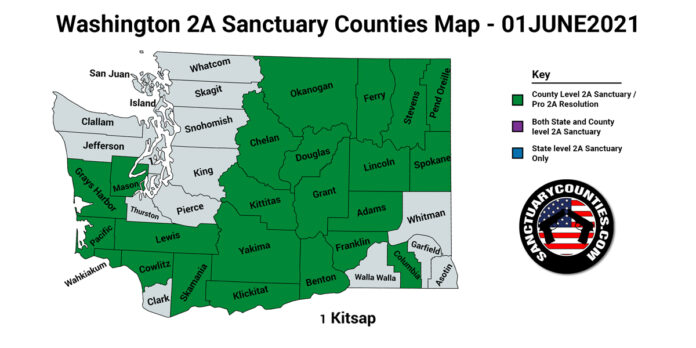 Washington Second Amendment Sanctuary Updated Map June 01 2021