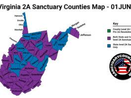 West Virginia Second Amendment Sanctuary Updated Map June 01 2021