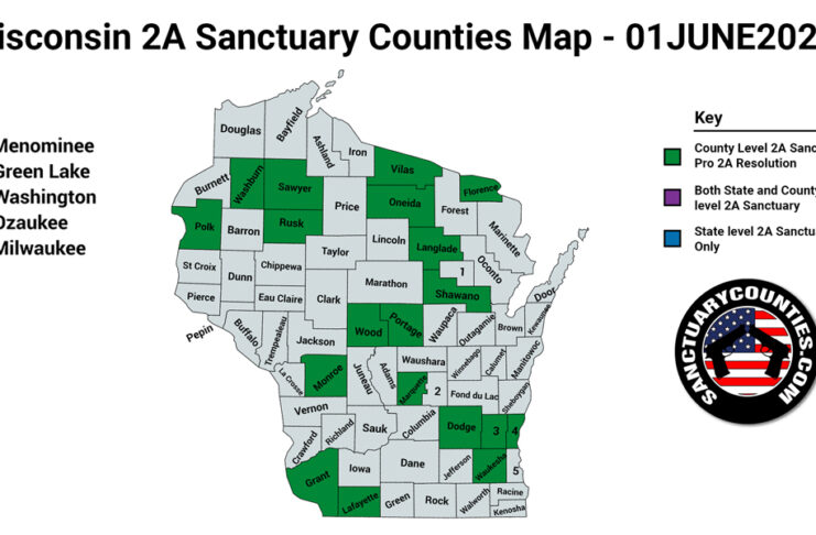 Wisconsin Second Amendment Sanctuary Updated Map June 01 2021