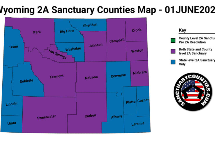 Wyoming Second Amendment Sanctuary Updated Map June 01 2021