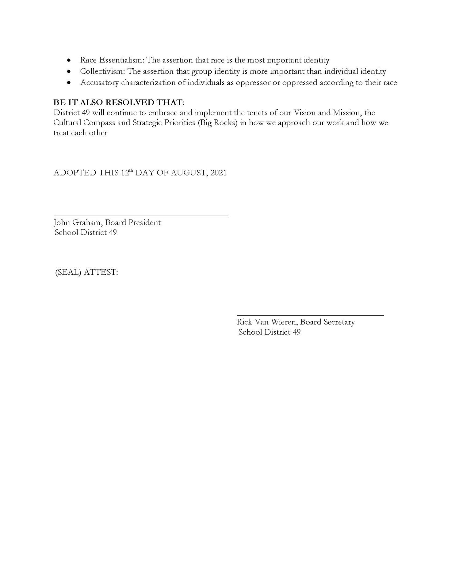 El Paso County, CO District 49 Resolution Banning Critical Race Theory - Page 2